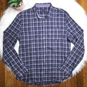 John Varvatos Collection Plaid Shirt Size Large